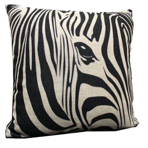 """Zebra-stripe Cotton Linen Throw Pillow Case Cushion Cover Home Sofa Decor 18/"""""""