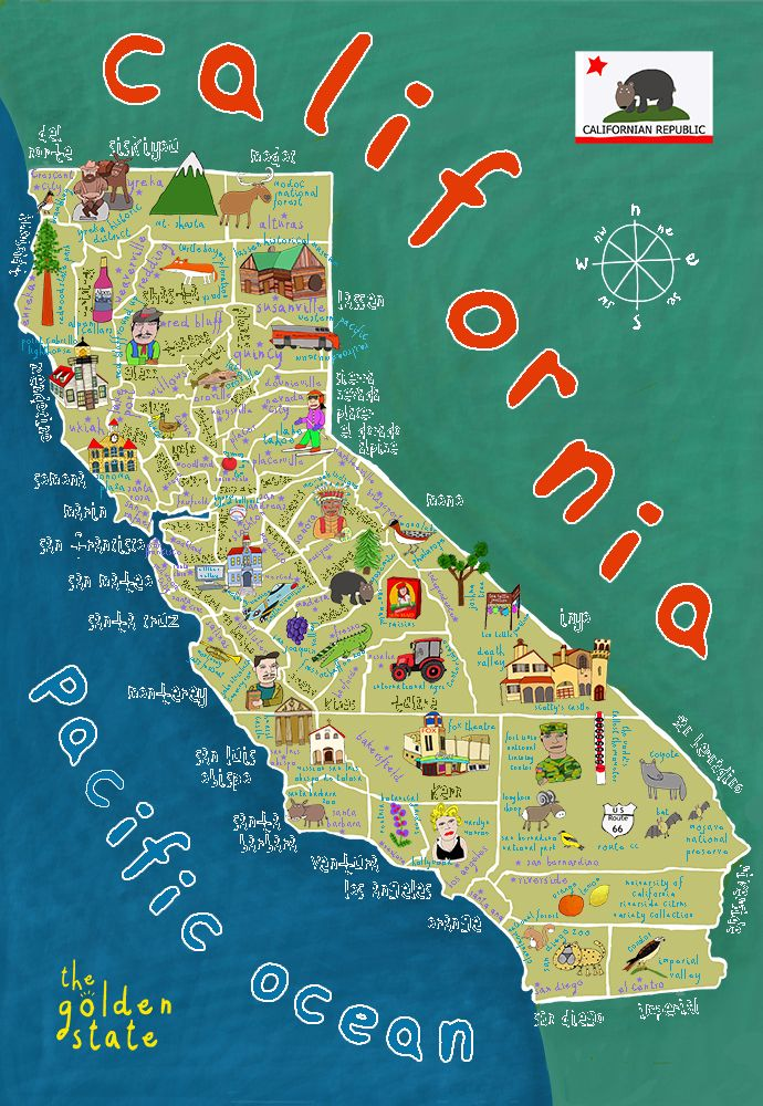 Picture Of California Map