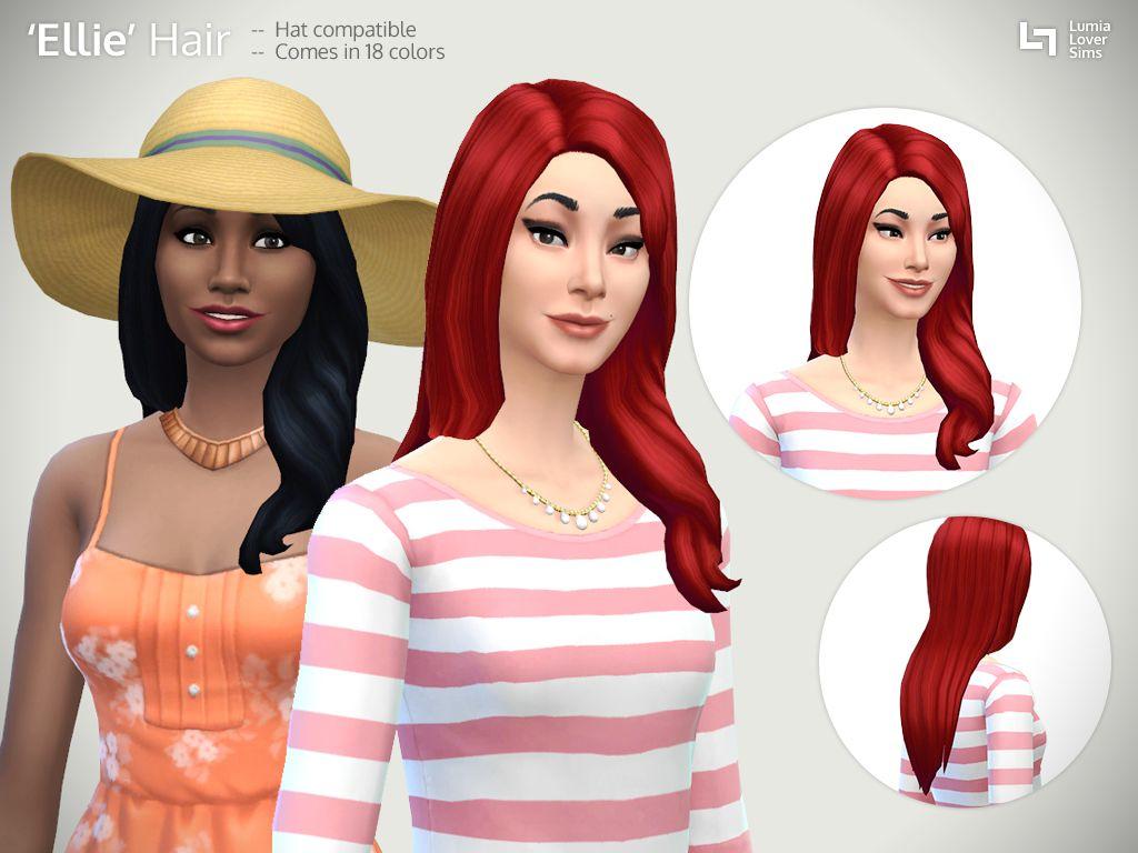 The sims 4 hair accessories - Ellie Hair Mesh Edit At Lumialover Sims Via Sims 4 Updates