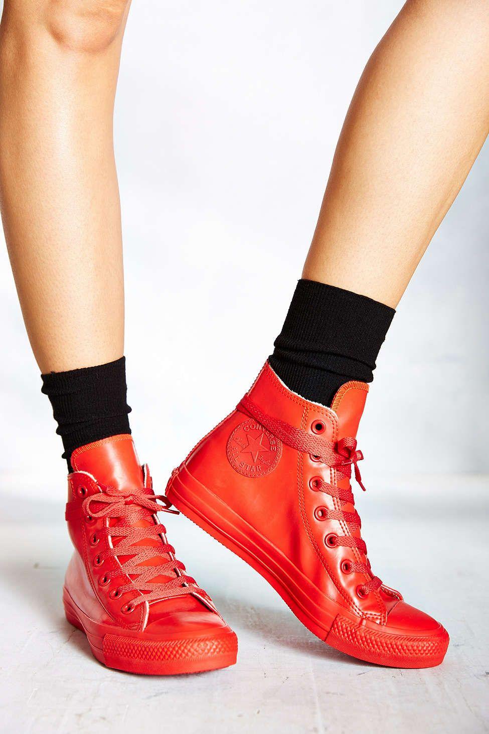 6bf4969d27aa Converse Chuck Taylor All Star Red Rubber Women s High-Top Sneaker ...