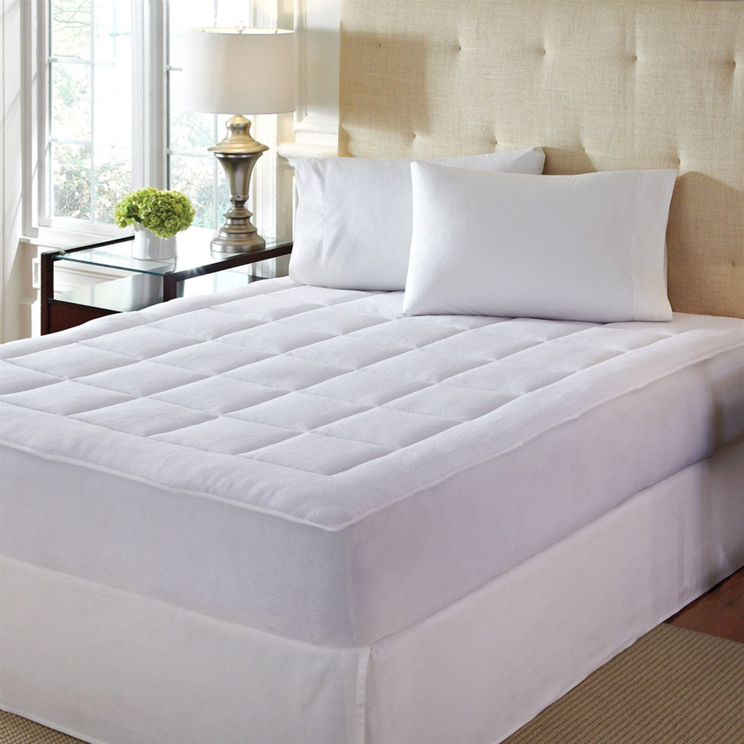 Twin XL size MicroPlush Mattress Pad Hypoallergenic and