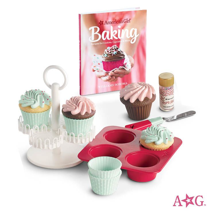 Williams Sonoma Cupcake Set For Dolls American Girl