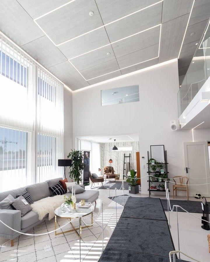 Home Interiorlighting Design: Light Strip + High Ceiling = Amazing Lighting Solution