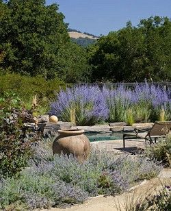 Pottery In Mediterranean Garden Design Nice Ideas