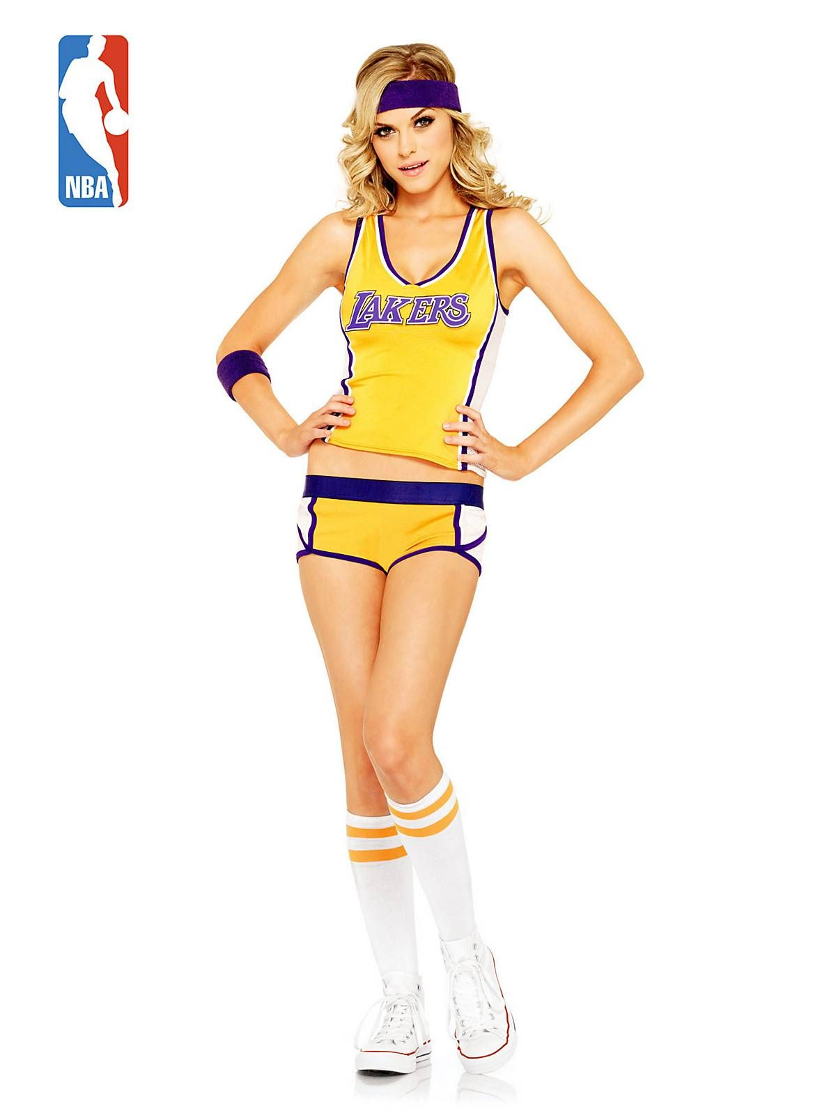 Sexy Los Angeles Lakers Basketball Costume - Womens Sports Costumes ... 7b7cb64217