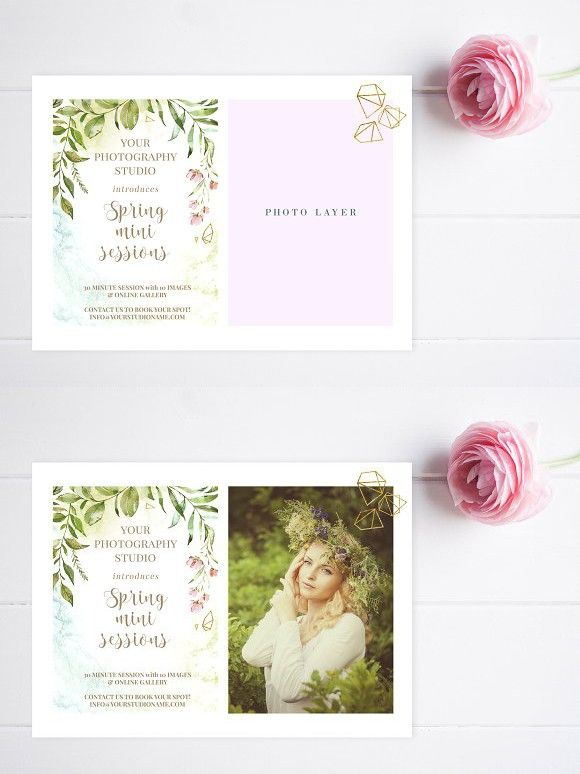 Spring Mini Session Template  Mini Sessions Flyer Template And