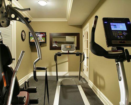 Basement Gym   Eclectic   Home Gym   New York   Craig Custom Builders.  Exercise Room Small Gym Design Ideas ...