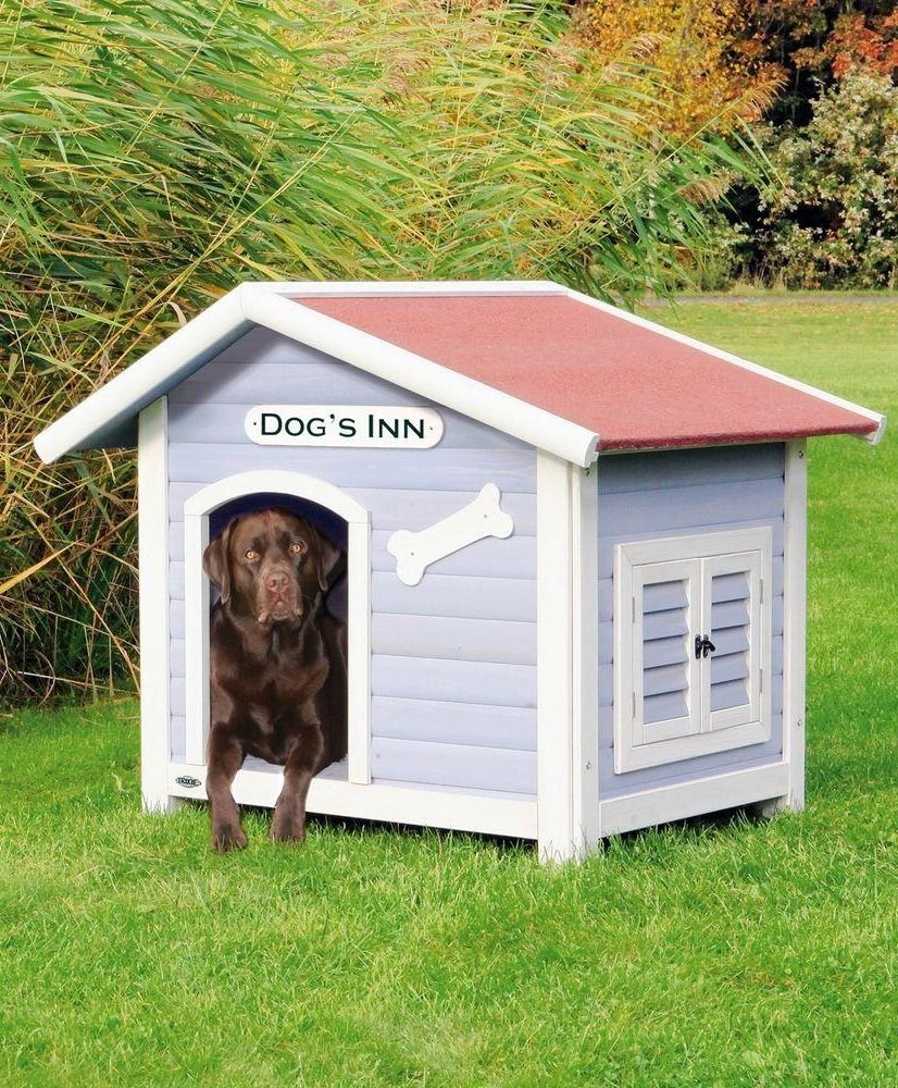 Trixie Dog S Inn Dog House In Blue White 39513 Weatherproof Dog