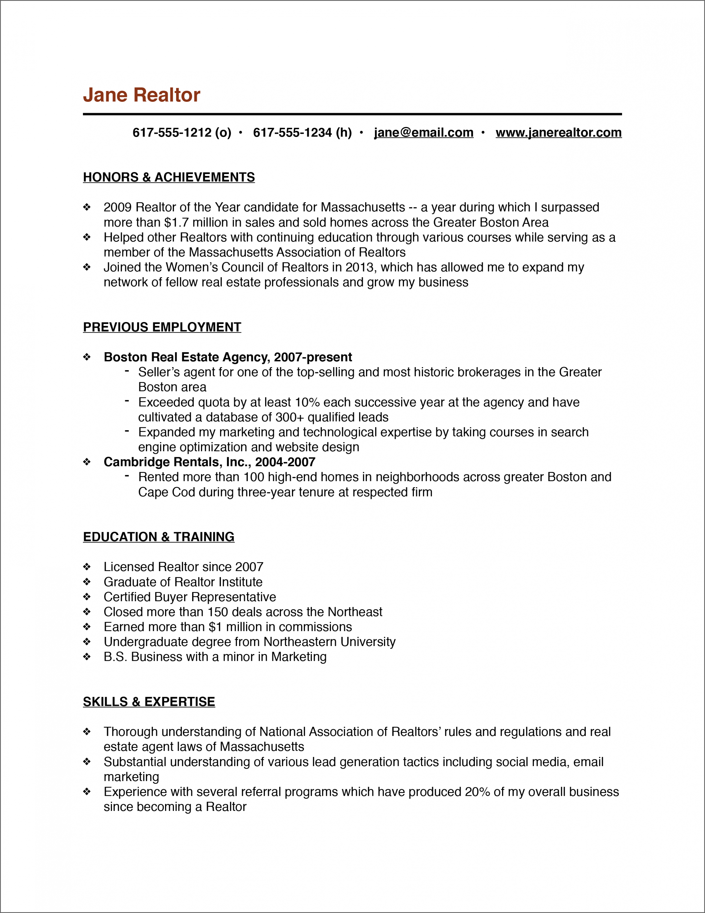 13 Resume Format For Actual Property Job