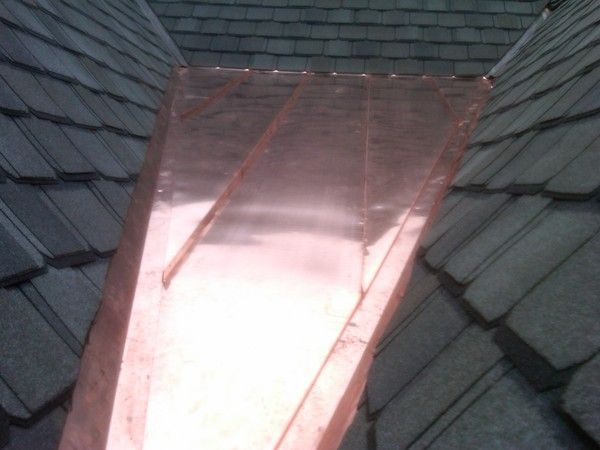 Copper Roof Cricket Copper Roof Roof Copper