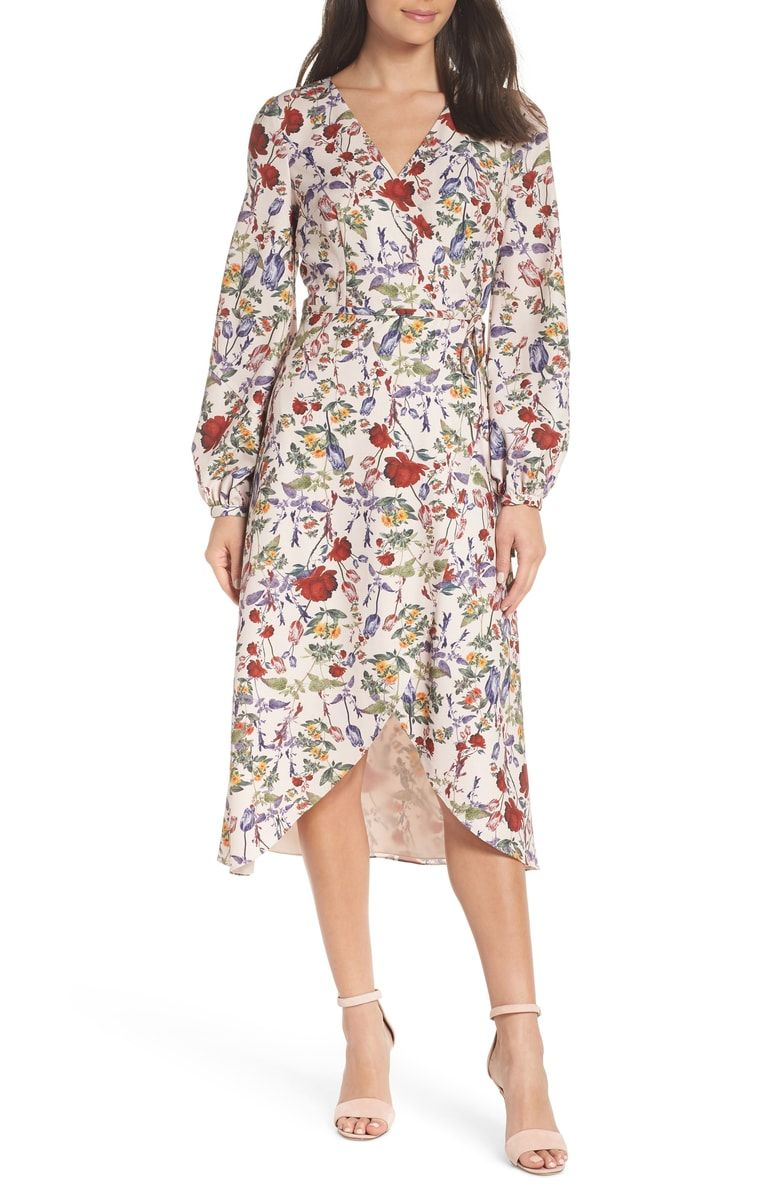 23f5c92c68264 Free shipping and returns on Chelsea28 Floral Wrap Dress (Regular ...