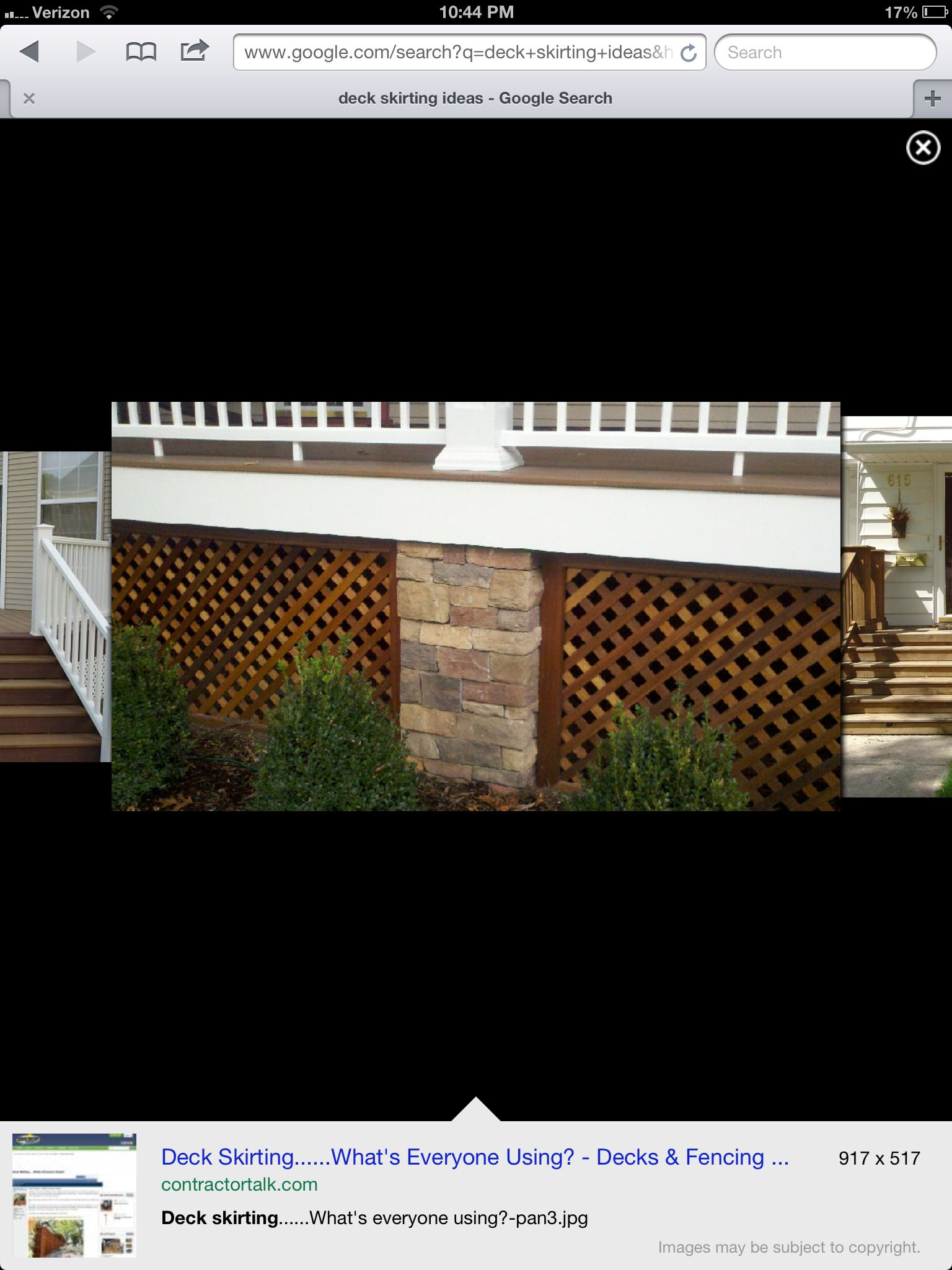 Deck skirt Deck skirting, Outdoor projects, Patio
