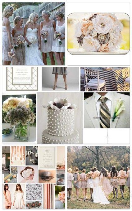 Br Wishbone Champagne And Grey Wedding Color Scheme
