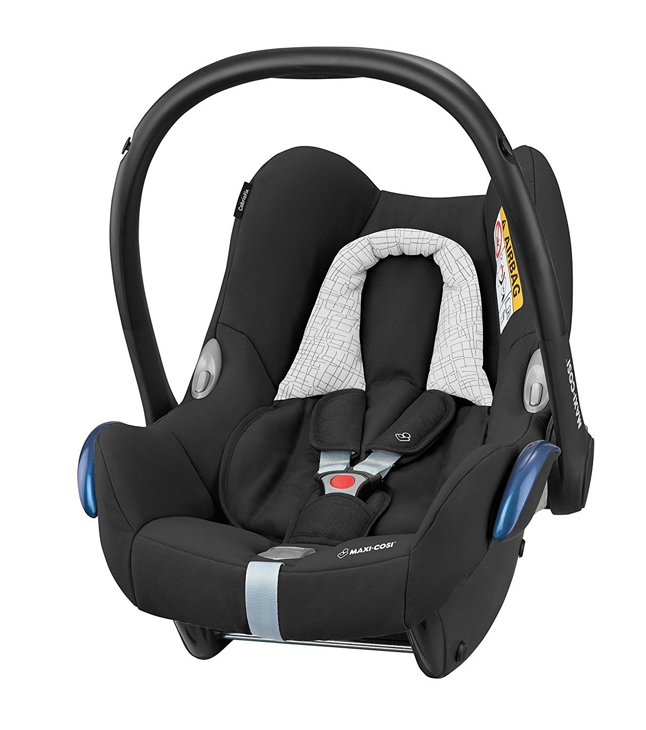 MaxiCosi CabrioFix Group 0+ Car Seat, Black Grid. Group 0