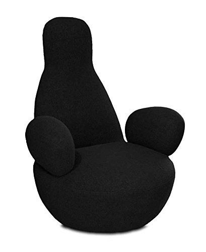 Chic Cashmere Chair Tv Chair Lounge Armchair. Illustration In Black