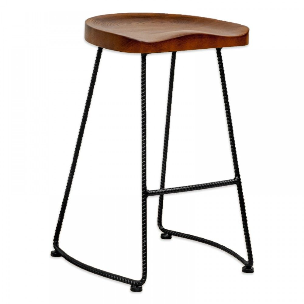 Wooden Bar Stools With Metal Legs Shapeyourminds Com