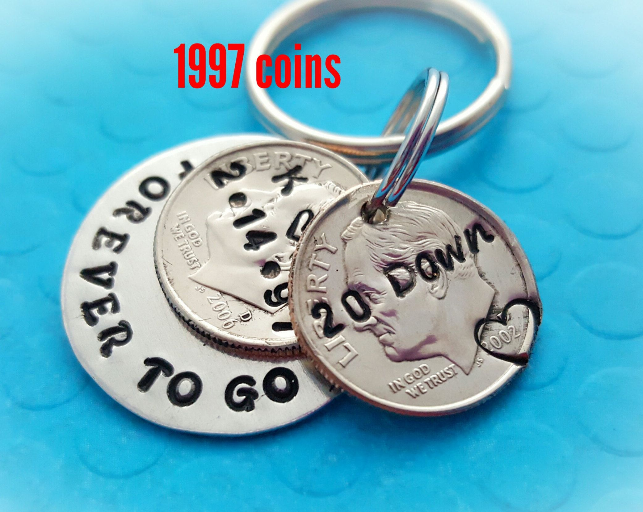 20 year anniversary keychain, anniversary for men, husband