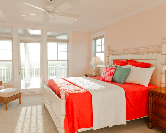 nearly peach sherwin williams Traditional bedroom