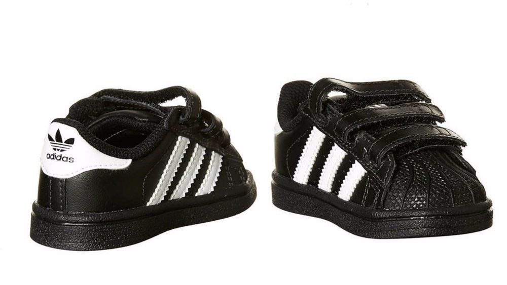 Details about Adidas Toddlers Superstar Foundation black