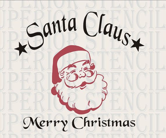 Large Christmas Stencils For Wood.Vintage Santa Claus Merry Christmas Stencil Large 11 Tall X