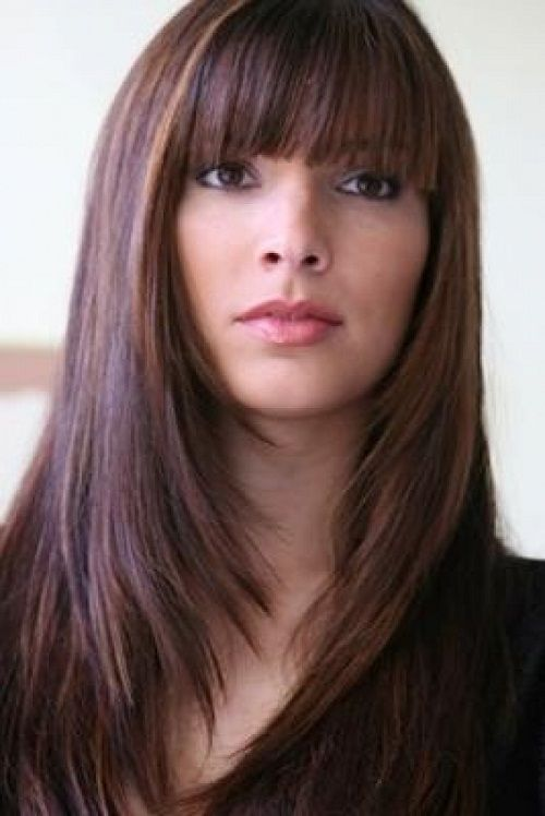 Long Bob Hairstyles with Fringe for Round face | Modern ...
