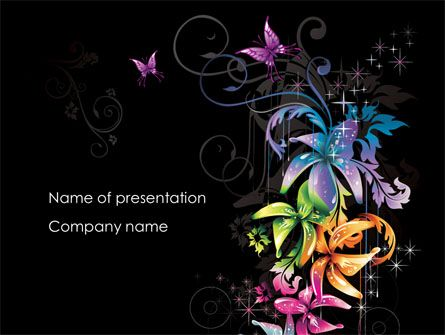 http://www.pptstar/powerpoint/template/fancy-design-flowers, Modern powerpoint