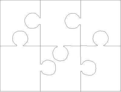 Blank Puzzle Template   Pieces  Easy To Cut  Learning For