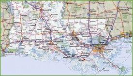 Southern Louisiana Map.Map Of Southern Louisiana Louisiana Maps Pinterest Louisiana