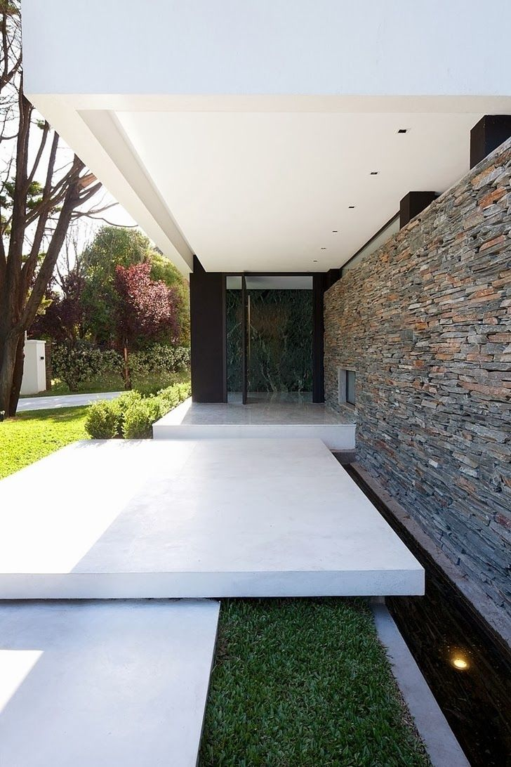 Minimalist casa carrara by andres remy architects modern entrance design house also rh pinterest