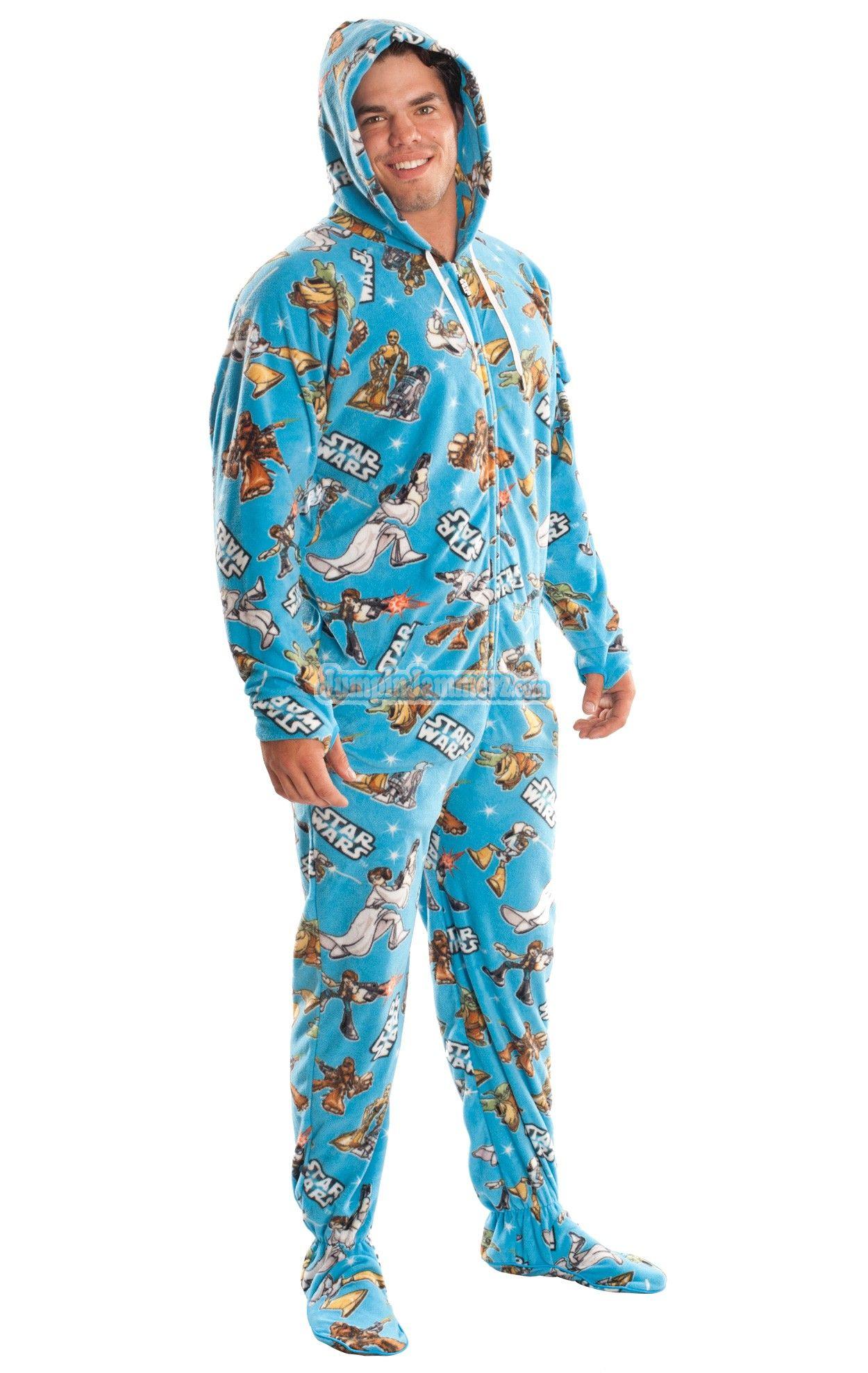 Star Wars Pajamas Footie PJs Onesies One Piece Adult ...