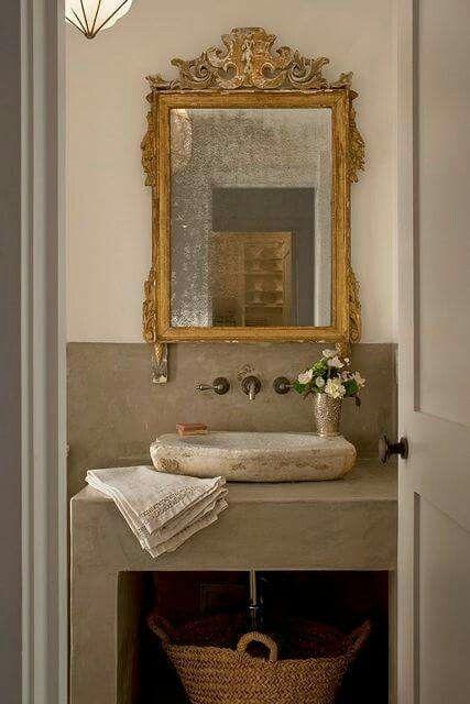 Rustic Bathrooms Paloma Contreras Interiors Design Powderroom
