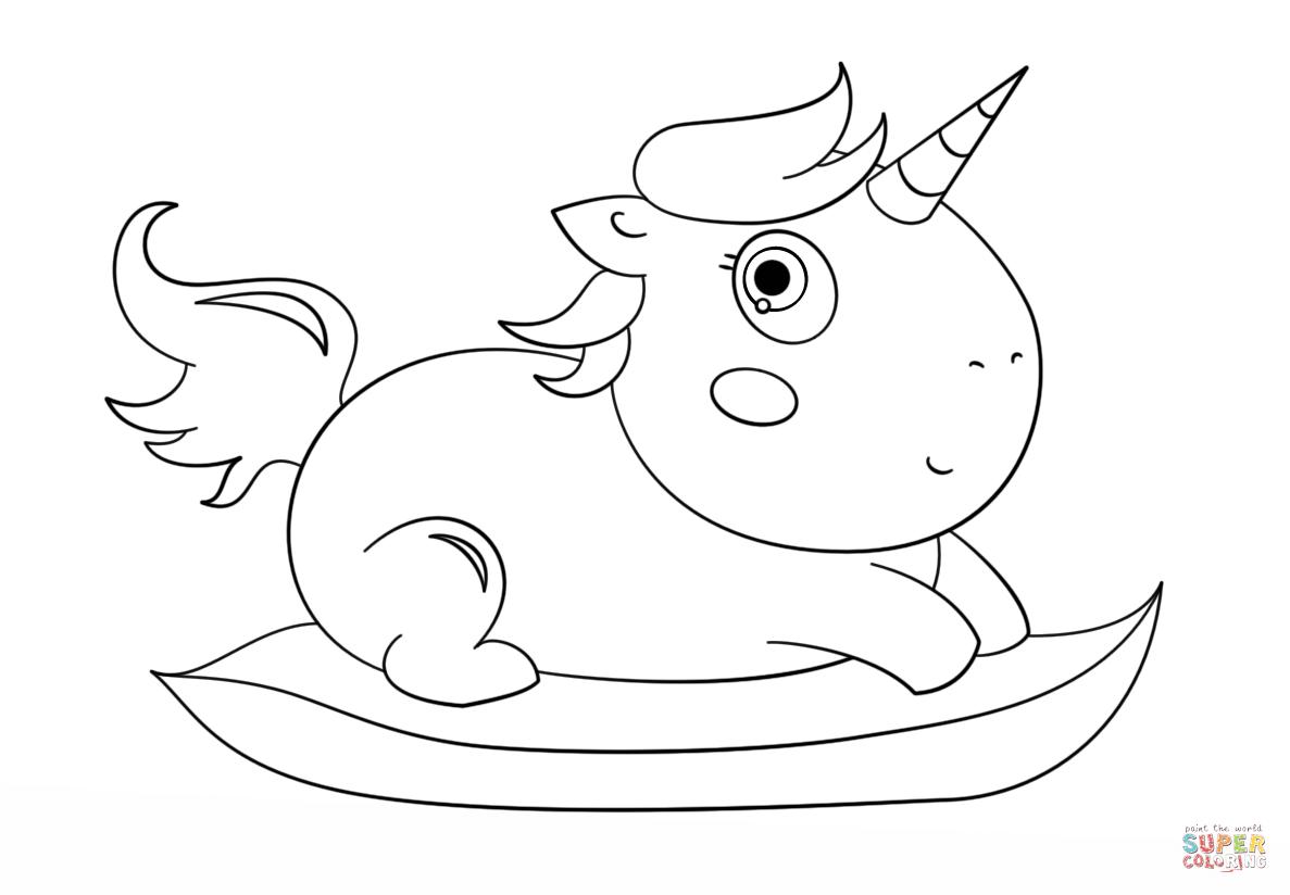 Einhorn Baby Ausmalbild