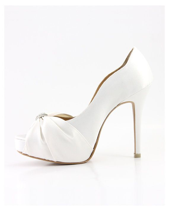 ea24207bb8e212 AMMIE   JOYCE Custom Made Angel Satin PeepToe Pump by ammiejoyce