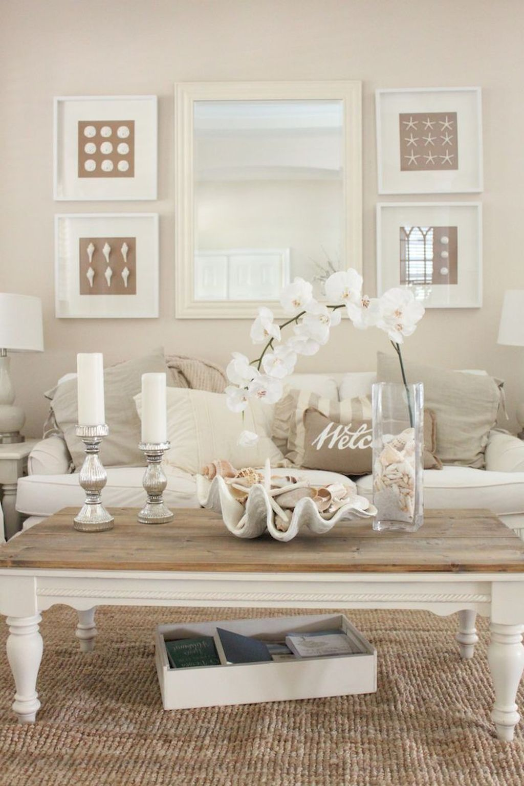 40 Cozy Coastal Beach Living Room Decoration Ideas | Beach living ...