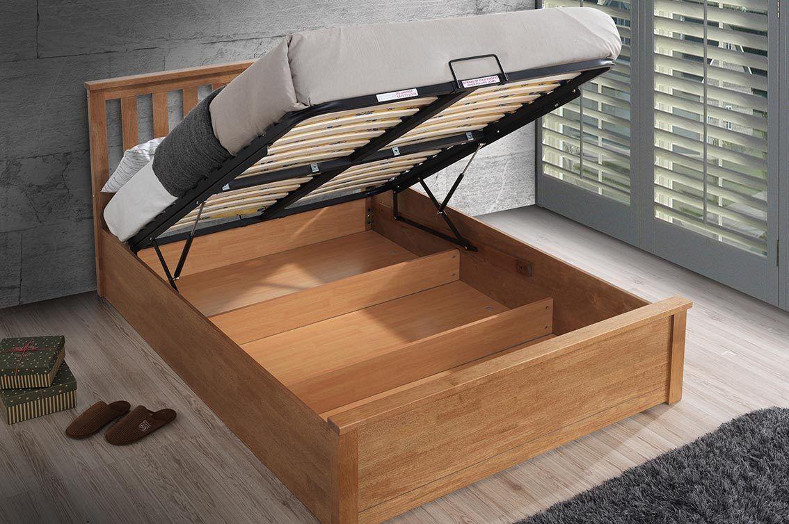 Brilliant Chester Oak Ottoman Storage Bed Frame 5Ft King Size In Dailytribune Chair Design For Home Dailytribuneorg