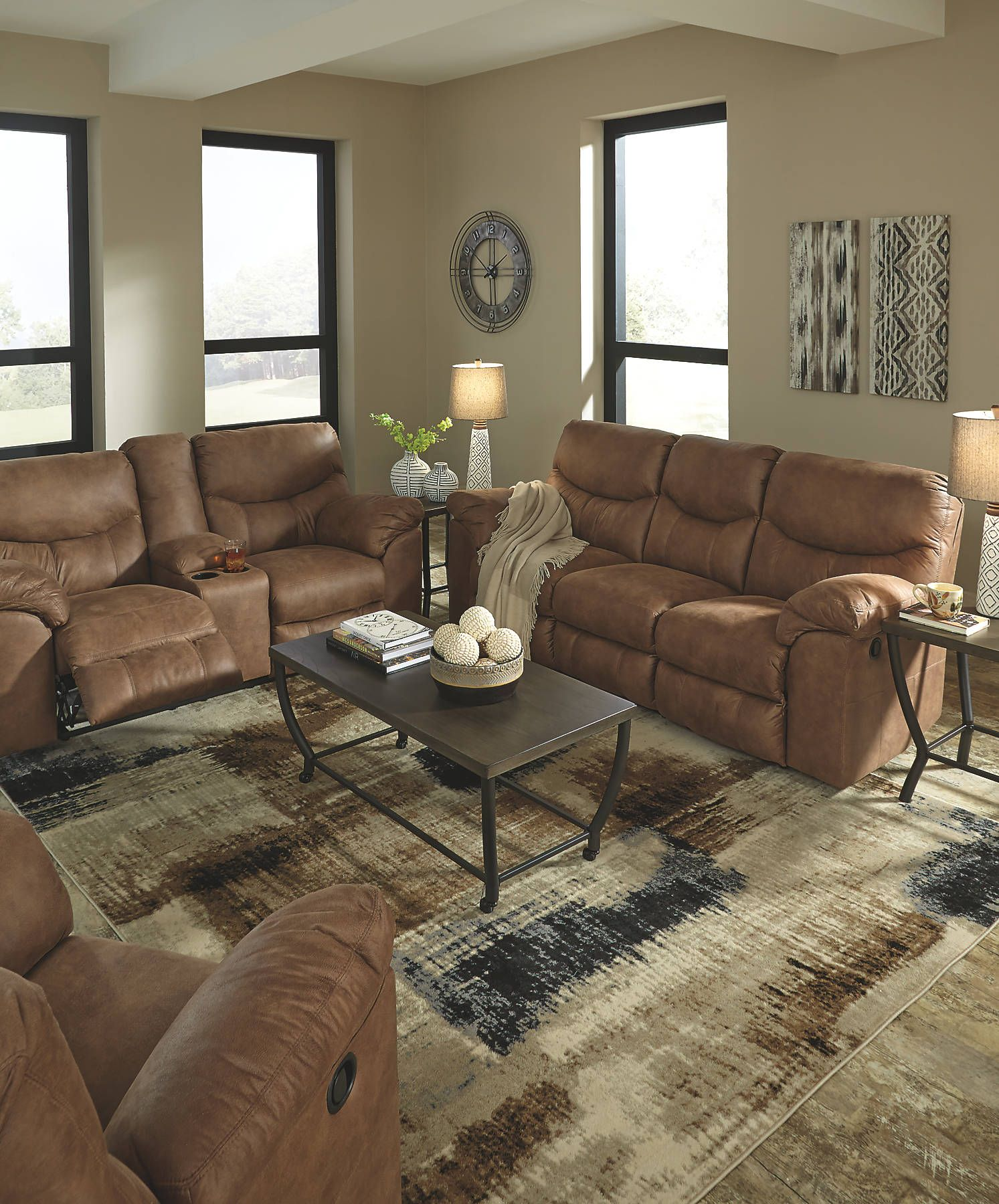 Boxberg Bark Reclining Power Sofa And Loveseat Rock The Cool Look