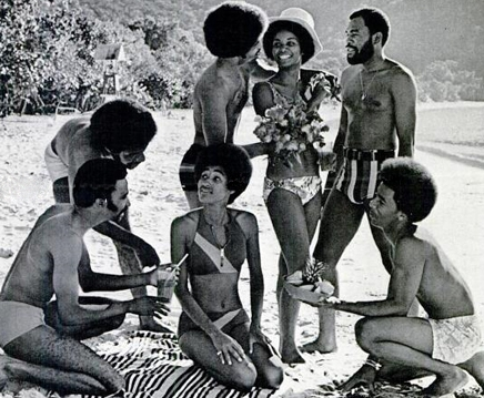 1970s Afro Beach Party African American Hairstyles