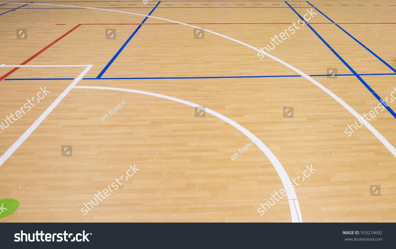 Wooden Floor Volleyball Basketball Badminton Court Royalty Free Image Photo In 2020 Badminton Court Badminton Volleyball
