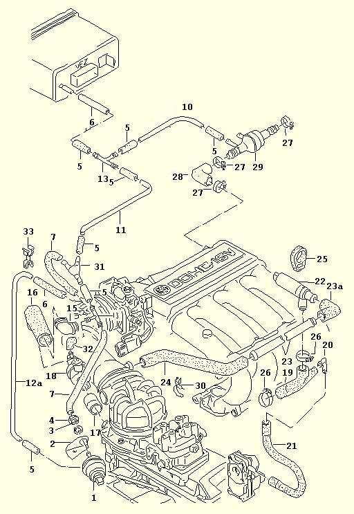 vw golf kr 16v vacuum system google search volkswagen. Black Bedroom Furniture Sets. Home Design Ideas