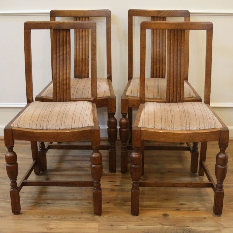 Antique English Oak Dining Chairs. Set of 4. - Antique English Oak Dining Chairs. Set Of 4. Nikki's Dining Room
