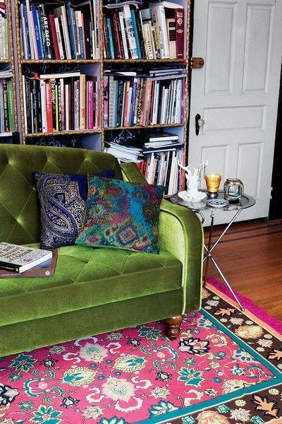 Boho living room layered rugs laylagrayce - Bohemian urban fusion living room ...