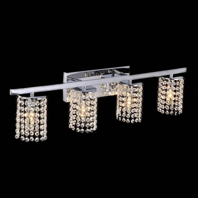 Light up the interior of your home with this elegant crystal wall sconce. This light fixture is ...