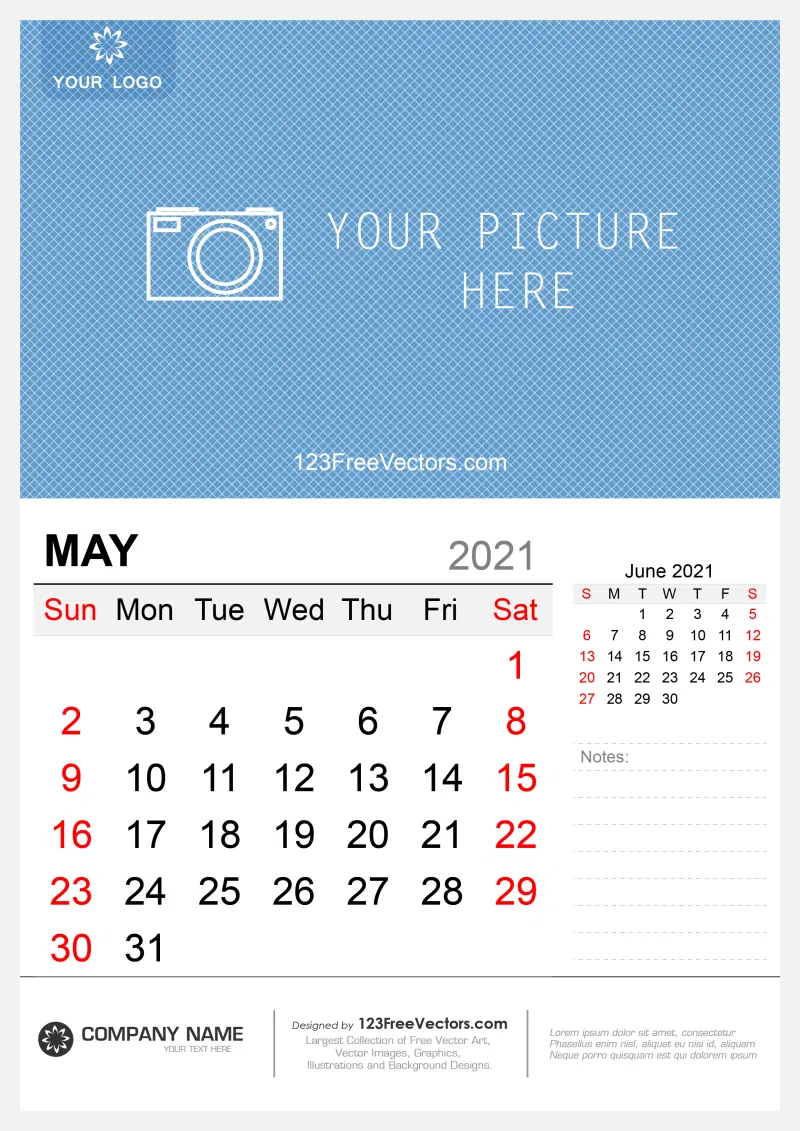 Free Wall Calendar May 2021 in 2020 | Free wall calendar, Wall