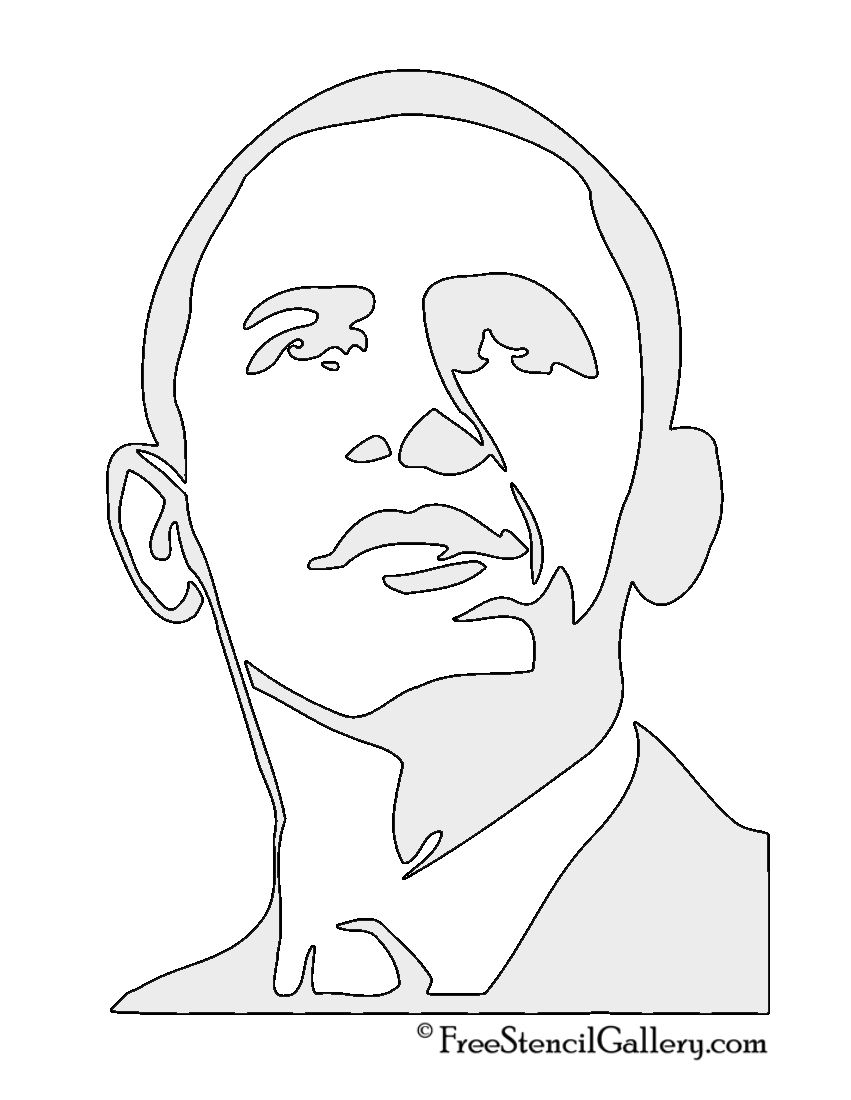 barack obama stencil 2 ��� pinterest barack obama