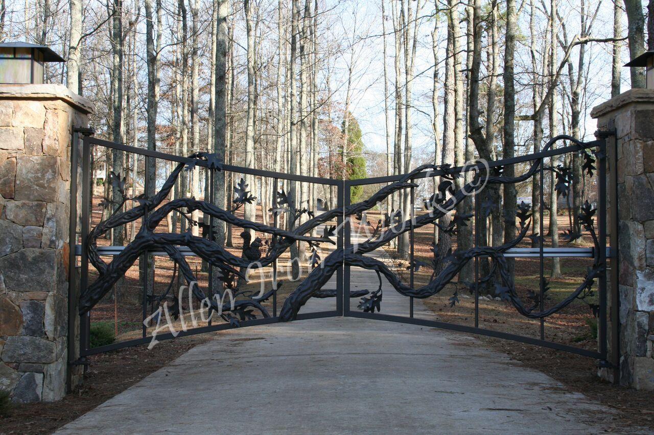Iron Entrance Gates Birmingham Al Allen Works