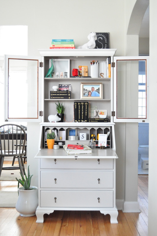 Favorite Ways To Use A Secretary Desk Emily A Clark Secretary Desk Makeover Small Secretary Desk Desk Makeover