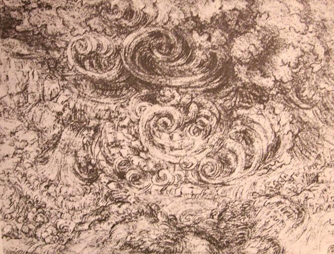 'disegno di un file inondazione', 1500 di Leonardo Da Vinci (1452-1519, Italy)