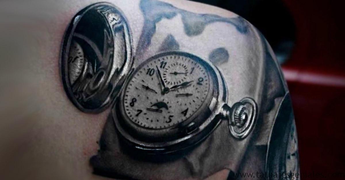 60 Ideas exclusivas de Tatuajes de Relojes y sus tipos Tatuajes