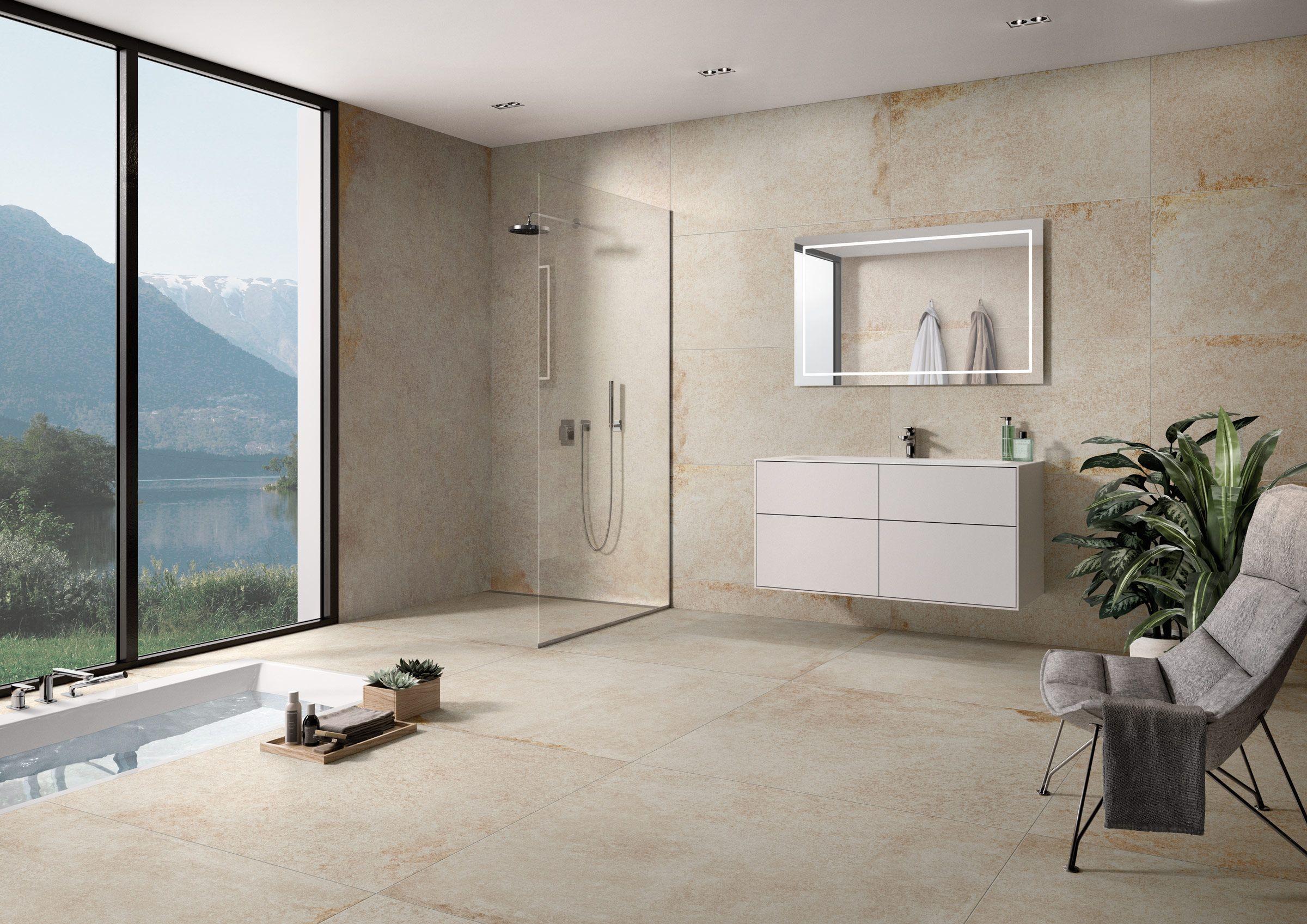 Badezimmer Idee Badezimmer Badezimmerboden Wohnen
