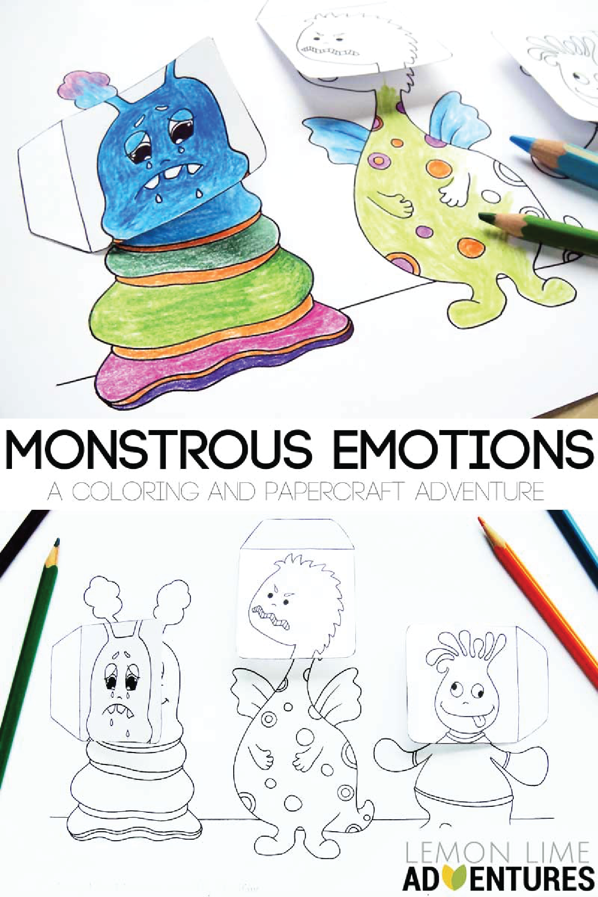 Monstrous Emotions Printable Simple Emotions Activity For